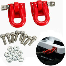 1 Pair 1:10 Scale Hook Shackles for RC SCX-10 Crawler Truck Accessories Red