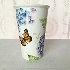 Lenox Butterfly Meadow Floral Porcelain Travel Mug Tumbler