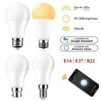 B22 Smart Light Bulb Wireless LED WiFi Remote Voice Control Lamp For Alexa Echo