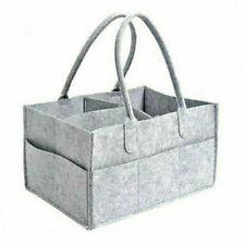 Baby Diaper Organizer Caddy Felt Changing Nappy Kids Storage Carrier Bag Grey