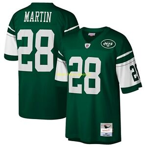 CURTIS MARTIN New York NY JETS Grn MITCHELL & NESS Legacy THROWBACK Jersey S-2XL