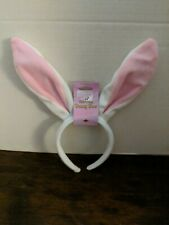 Soft-Touch Bunny Ears Pink & White