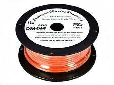 16 Gauge Tinned Marine Primary Wire / Orange / 50 Foot Reel