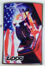 """Zippo by Mazzi """"PATRIOTIC"""" Printed Lighter on Brushed Chrome finish, New"""