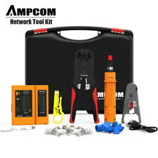 AMPCOM Pro 11/1 Network Tool Kit, Ethernet LAN Cable Tester Crimper Repair