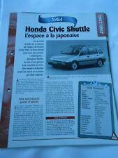 Honda Civic Shuttle 1984 Fiche Technique Auto