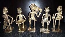 5 ANCIEN STATUE SCULPTURE STATUETTE PERSONNAGE BRONZE AFRICAIN SENEGAL AFRIQUE