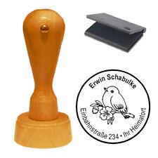Stempel « Vogel Spatz 01 » Adressenstempel Motivstempel Holzstempel