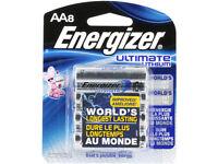 Energizer L91BP-8 Ultimate Lithium AA Batteries (8-Pack)- 1.5v AA8 3000mAh X2036