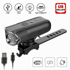 USB Rechargeable LED Bicycle Headlight Bike Head Light Front Lamp Cycling IP65