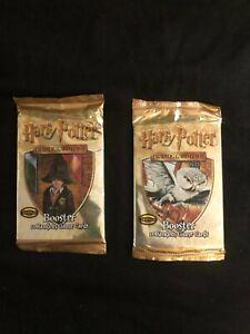 Harry Potter Trading Card Game Base Set Booster  (2) Unopened Pack's