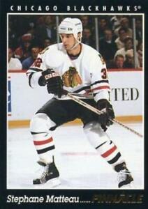 #344 Stephane Matteau - Chicago Blackhawks - 1993-94 Pinnacle Hockey