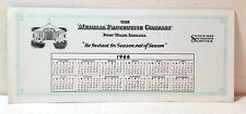 1966 Medical Protective Company, Fort Wayne, Indiana, ink  00006000 blotter, calendar