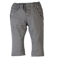 Boboli Boys grey large check trousers age 12 months