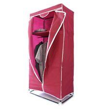 Armoire en tissu pliable pliante penderie étagère vêtement 75x50x160 rouge foncé