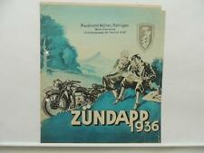 1936 Zundapp DB200 DBL200 DBK200 KK200 K500 K800 K350 KS500 Brochure L9379