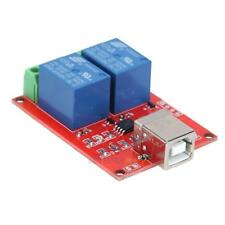 5V 2 Channel Driver-Free USB Smart Control Switch Relay Module for PC #3YE