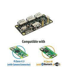 MakerSpot 4-Port Stackable USB Hub HAT for Raspberry Pi Zero V1.3 & Pi Zero W
