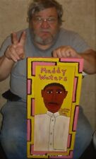 Blues Muddy Waters Dan C outsider folk art original painting Raw Brut Naive
