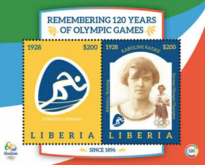 Liberia 2016 -  Remembering 120 Years of Olympic Games - Souvenir Sheet - MNH