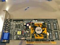 RARE VINTAGE ASUS V7100PRO GEFORCE2 MX400 AGP 32 MEG VGA CARD - OEM DIRECT