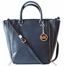 NEW MICHAEL KORS NEWMAN NAVY BLUE LEATHER LARGE TOTE,SHOULDER BAG,CROSSBODY