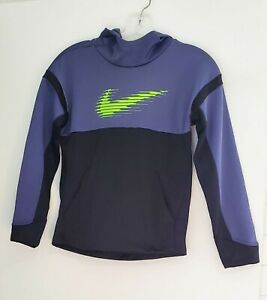 Nike Boys Therma Fleece Hoodie Sanded Purple/Black Sz M - NWT
