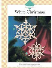 White Christmas Snowflake Ornaments or Decor Crochet Single Pattern Vanna White
