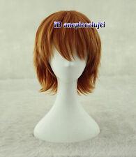 Yata Misaki Short Layered Orange Cosplay wig +free wig cap