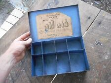 Vintage Ideal's Float Co. Assortment Fishing Lead Weights Tackle Box Holder Case