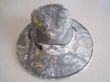 Mens Realtree Mesh Camo Safari Fishing Hunting Hiking Hat Adjustable Chin Strap