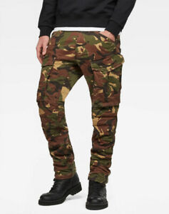 G-Star Raw Men's Dark Fall AO Rovic 3D Straight Tapered Fit Cargo Pants