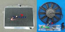 For Volvo Amazon P1800 B18 B20 engine GT 1959-1970 MT Aluminum Radiator+Fan
