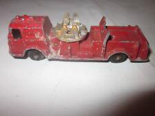 "Vintage 1960's metal Fire Engine toy Tootsie Toy red 3 1/2"" diecast"