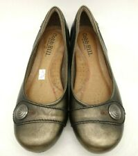 Cobb Hill New Balance Metallic Brown Leather Button Flats Shoes Women's 7.5 W