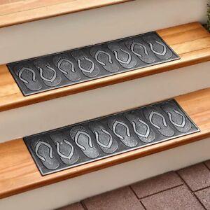 Rubber Stair Step TREADS Mat or Front DOOR MAT Rug FLIP FLOP Outdoor Rug Carpet