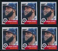 2020 Topps Living Set Yordan Alvarez RC 6 Card Lot #289 Rookie Houston Astros