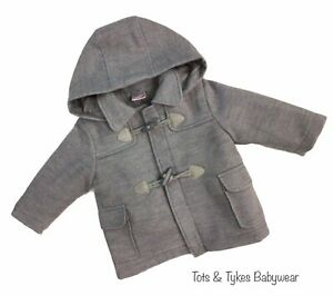 Boys Spanish designer grey duffle coat new