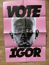 "TYLER, THE CREATOR IGOR ""VOTE IGOR"" 24""x36"" ORIGINAL POSTER - PINK"