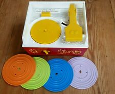 Tourne Disque Fisher Price Music Box Record Player Vintage 4 DISQUES