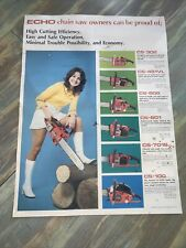 "Vintage Echo Chainsaw Dealer Ship Poster 22 X 16"" Rare!"