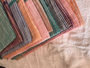 "Khadi Bath Towel Sheet Khadi Handspun Hand Woven Hand pattern Wrap Scraf 72""x35"""