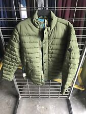 Men's Scotch & Soda Mid Season Jacket Primaloft Quilted Army Green Large Puffer