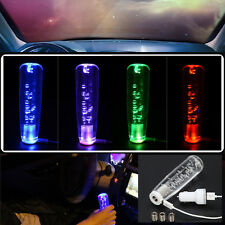 Car Manual Gear Shift Knob LED Light Change Crystal Bubble RGB For Toyota Ford