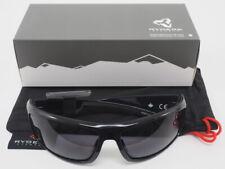 New! Ryders Eyewear Howler Black Frame Grey Lens Cycling Sport Sunglasses