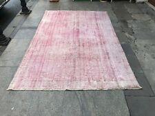 8x5 Rug,Handmade Vintage Rug,Pink Handmade Vintage Carpet,Oversize Rug,Carpet