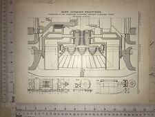 Ljungstrom Steam Turbine, Made In Sweden: 1912 Engineering Magazine Print