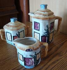 Teapot Sugar Bowl & Creamer Occupied Japan