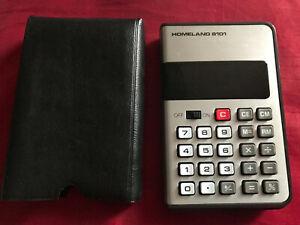 rare ancienne calculator calculatrice vintage HOMELAND 8101 collection pop art