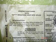 Ampiniature Drop Wire Splice New In Package